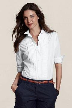 Blusa Formal Blanca En Cuello Abierto De Uniforme Para Maestras De Colegio