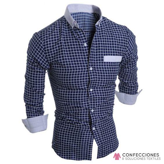 camisa para hombre casual de cuadros cstradha