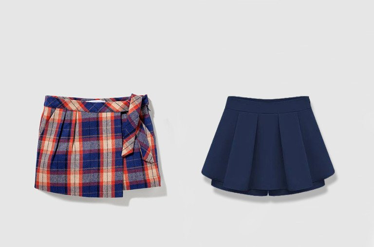 Falda Pantalon Escolar Tipo Mini