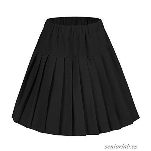 Falda Plisada De Uniforme Escolar Color Negro Cstradha