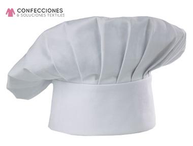 gorro casi plano para chef cstradha