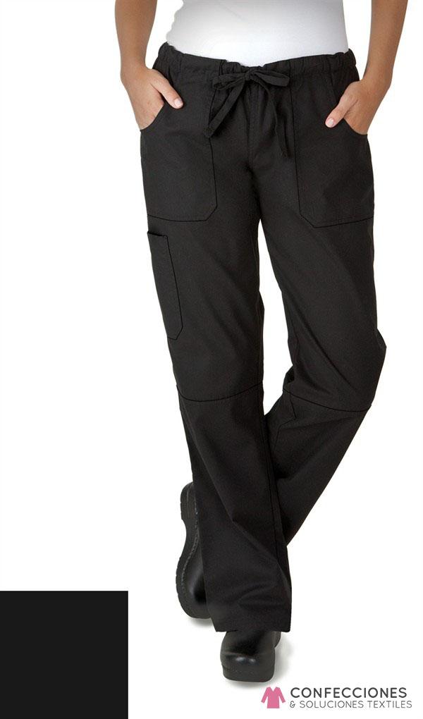 pantalon para chef mujer negro delante cstradha