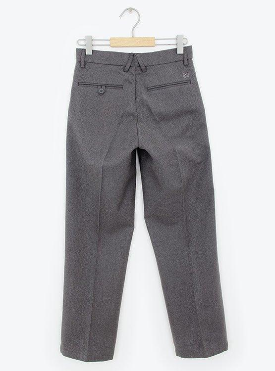 Pantalon Escolar Gris Con Bolsillos
