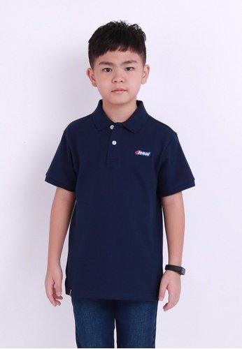 Polo Casual De Nino De Uniforme Escolar Azul Marino Cstradha