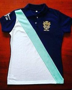 Poloshirt En Raya Diagonal Uniformes Para Promociones De Colegios