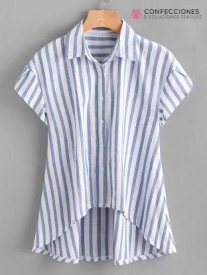 camisa con curva en cintura cstradha