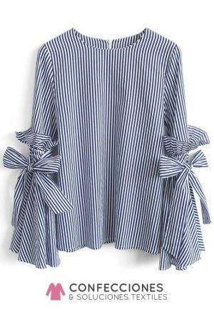 camisa con nudo en manga manga larga cstradha