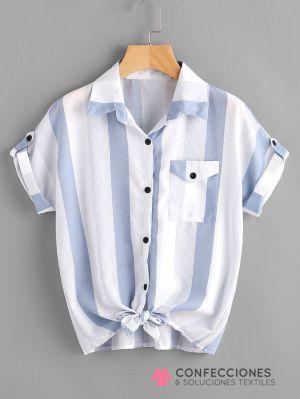 camisa con nudo y botones cstradha