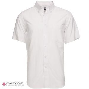 camisa para hombre blanca manga corta cstradha