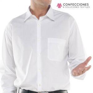 camisa para hombre larga blanca cstradha