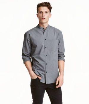 Camisa Casual De Uniforme Escolar Color Gris Cstradha