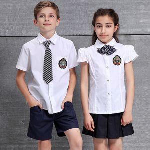 Camisa Con Corbata De Uniformes De Colegio Para Niñas