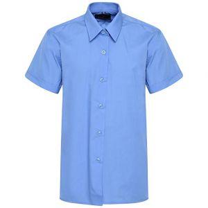 Camisa De Uniforme Escolar Azul