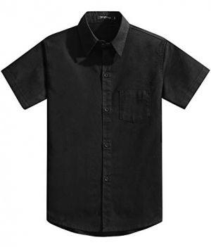 Camisa De Uniforme Escolar Color Negro Cstradha