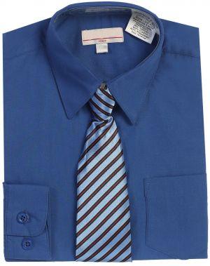 Camisa Formal De Uniforme Escolar Azul Rey Cstradha