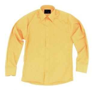 Camisa Manga Larga De Uniforme Escolar Amarillo