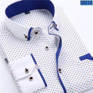 Camisa Tipo Chacabana Con Ribetes Azules