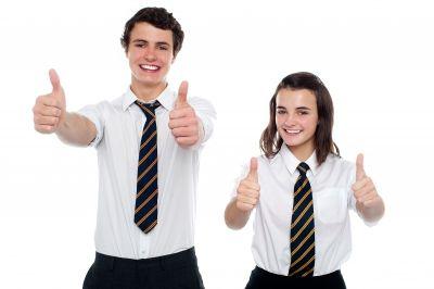 Camisa Y Corbata De Rayas De Uniforme Escolar Para Ninos Cstradha