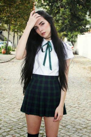 Camisa Y Falda De Cuadros Para Uniformes Escolares De Secundaria