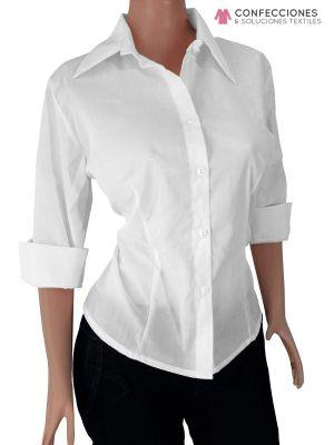 camisas blanca para dama manga larga con logo cstradha