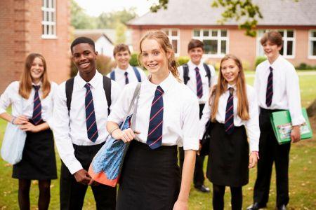 Camisas Blancas Con Corbatas De Uniforme Escolar Para Ninos