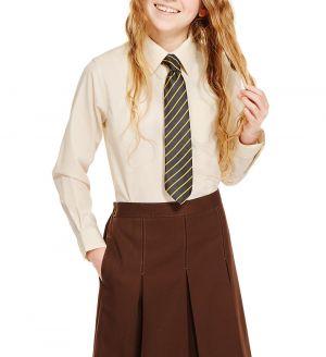 Camisas Escolares Para Niñas Beige