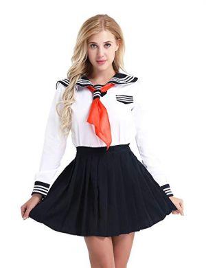Camisas Escolares Para Niñas Blanca Con Corbatin Naranja