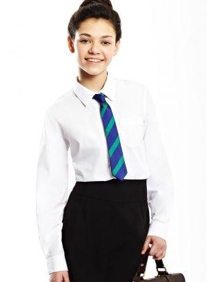 Camisas Escolares Para Niñas Con Corbata Azul De Rallas