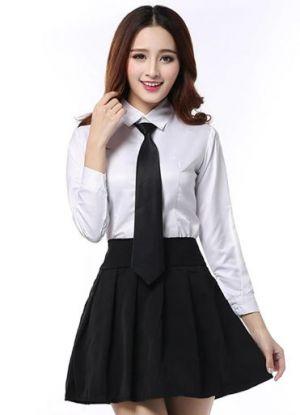 Camisas Escolares Para Niñas Con Corbata Negra