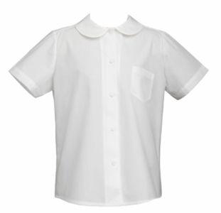 Camisas Escolares Para Niñas Con Cuello Redondo