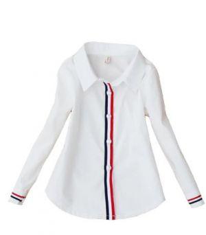 Camisas Escolares Para Niñas Con Lineas En El Frente