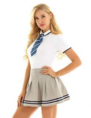Camisas Escolares Para Niñas Corbatin Azul