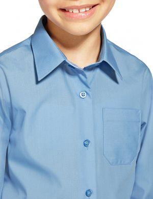 Camisas Escolares Para Niños Azul Cielo Convencional O Clasico