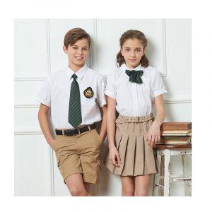 Camisas Escolares Para Niños Con Corbata Verde