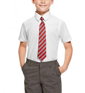 Camisas Escolares Para Niños Corbata Roja De Lineas