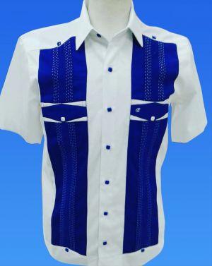 Chacabana Blanca Con Combinacion Azul Royal