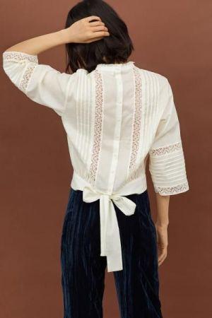Chacabana Con Alforza Atras Y Alante Combinada Tipo Camisa Para Mujer