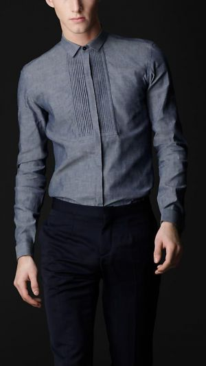 Chacabana Moderna Gris Tipo Camisa Para Hombre