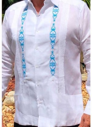 Chacabanas Blancas Modernas De Hombre Con Combinacion Azul