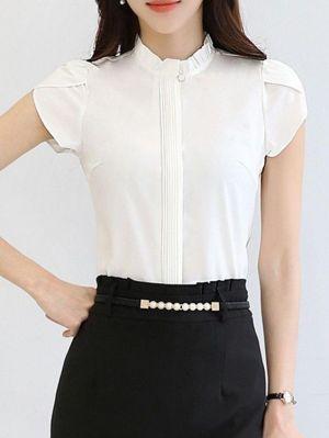 Chacabanas Para Mujer Modernas Tipo Camisa, Color Blanca
