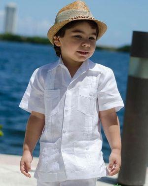 Chacabanas Para Niños Sencilla Blanca Y Con 4 Bolsillos