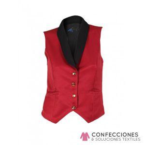 chaqueta de camarero roja con negro cstradha