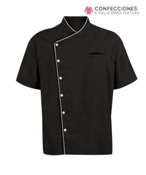 chaqueta para chef negra