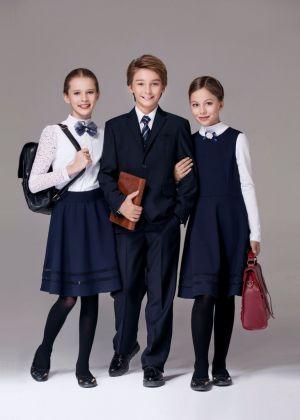 Conjunto De Uniforme Escolar Azul