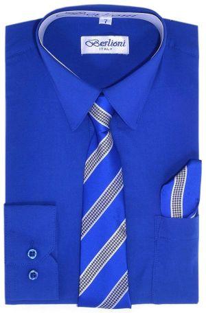 Corbata Doblada De Uniforme Escolar Azul Marino Cstradha