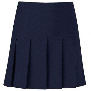 Falda Escolar Azul Marino De 5 Tachones