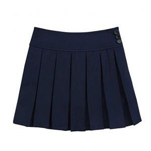 Falda Escolar Azul Marino Oscuro Corta