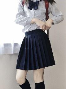 Falda Escolar Azul Marino Plisada Cortita