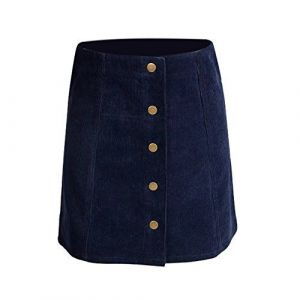 Falda Escolar Azul Marino Tipo Jean