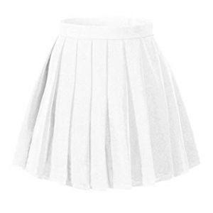 Falda Escolar Blanca Con Plises